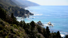 Time Lapse of the Big Sur California Coastline Stock Footage