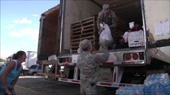 Soldiers help devastated community at Pateros after fire Stock Footage