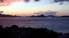 A beautiful sunset in the Virgin Islands United States - stock footage