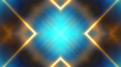 Gold and Blue VJ Loop Abstract Stock Footage