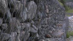 Wall of Different Sized Rocks in a Mountain Environment 2 - stock footage