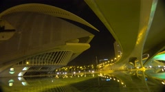A space ship like futuristic office building in Valencia, Spain. Stock Footage