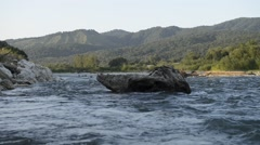Stock Video Footage of mountain river in the Caucasus