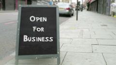 Blackboard Store Sign Stock Footage