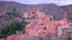 The beautiful Spanish monastery town of Albarracin. Stock Footage