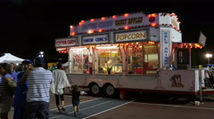 Town Fair Concession Truck Stock Footage