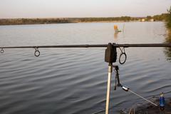 warning for fishing - stock photo