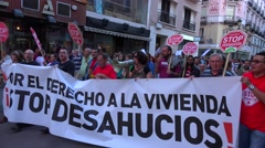Protests in Spain over the state of the economy. Stock Footage