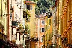 Old town architecture of nice on french riviera Stock Photos