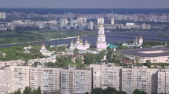 From the height of the city of Kiev - stock footage