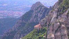 The Montserrat Monastery in Spain. Stock Footage