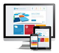 Stock Illustration of Responsive App Design Desktop Tablet Smart Phone