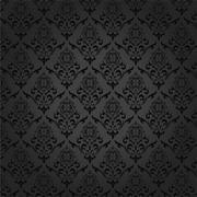 Seamless Damask Pattern Background - stock illustration