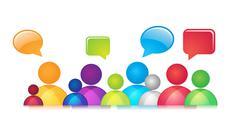 Stock Illustration of Social Communication