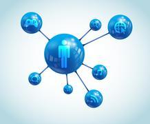 Stock Illustration of Social App Atom Vector