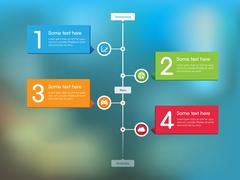 Timeline Feed Vector on Abstract Background - stock illustration