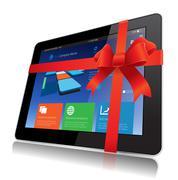 Tablet gift Stock Illustration