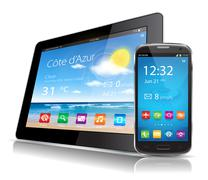Stock Illustration of Tablet and smartphone