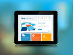 Tablet technology background - stock illustration