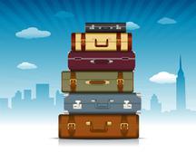 Travel background - stock illustration