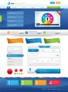 Website elements - stock illustration