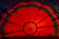 Inside one hot air balloon Stock Photos