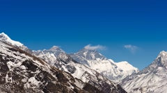 4K Timelapse Exclusive; Majestic  Mount Everest and mountain Lhotze Stock Footage