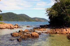 loagoa azul ilha grande - stock photo