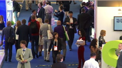 Crowd of visitors at the '21st World Petroleum Congress' Stock Footage
