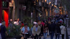 Nighttime in Barcelona Spain. Stock Footage