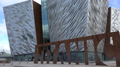 Titanic belfast visitor centre, northern ireland Stock Footage