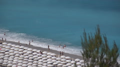 Aerial Summer Mediterranean Sea View, Lefkada Island, Greece, Tropical Beach Stock Footage