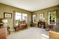 Room with antique furniture Stock Photos