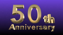 50th anniversary seamless loop background Stock Footage