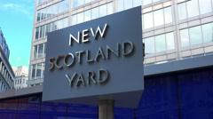 New Scotland Yard sign Stock Footage