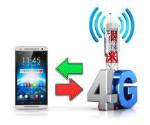 4G wireless communication concept Stock Illustration