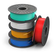 Spools with color electric power cables Stock Illustration