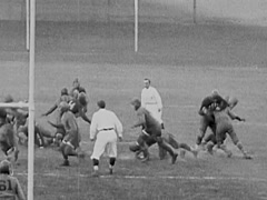 1926 Football Game Stock Footage