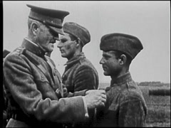 Buck Private Awarded Medal On Field - World War 1 Stock Footage
