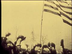 Troops React To News Of The Armistice 1918 - World War 1 - stock footage
