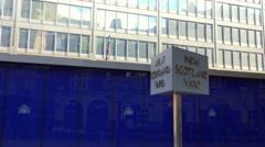 Entrance of New Scotland Yard London Stock Footage