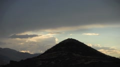 Timelapse clouds over the Andes near Cusco, Peru Stock Footage
