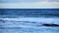 Sandy Beach on Oahu, Hawaii, USA. Stock Footage