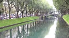 "Historic avenue ""Koenigs Alley"". Dusseldorf.  Germany Stock Footage"