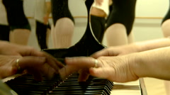 Art Music Ballet lesson dance piano Stock Footage