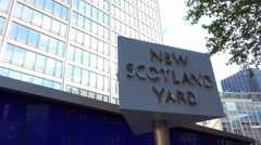 New Scotland Yard London Stock Footage