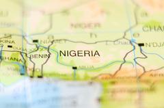 Nigeria country on map Kuvituskuvat