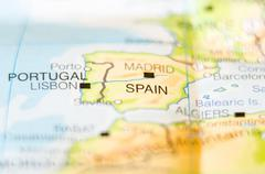 Stock Photo of spain country on map