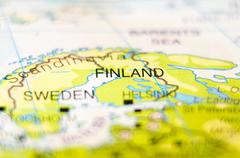 Stock Photo of finland country on map