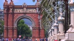 The Arc De Triumph of Barcelona, Spain. Stock Footage